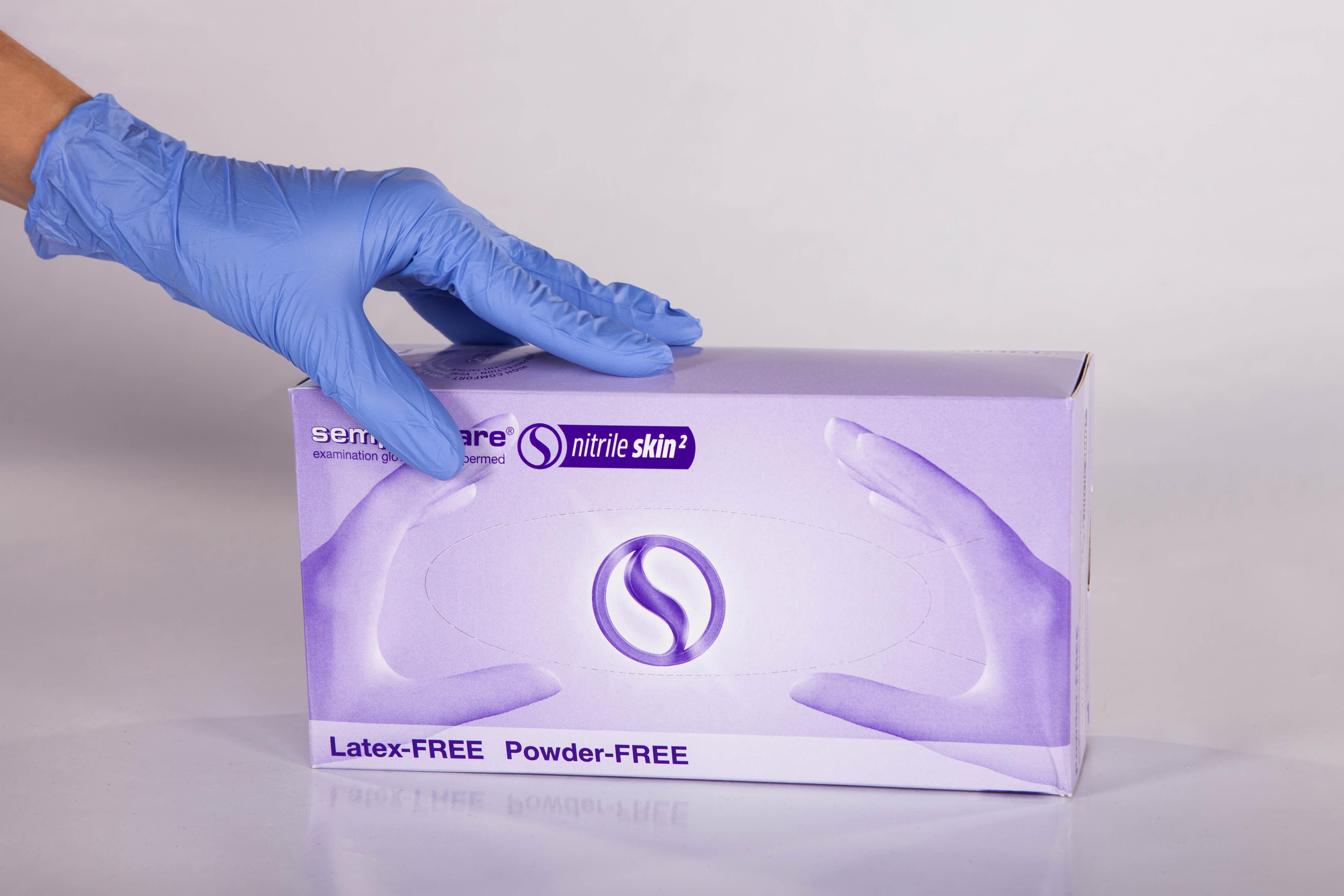 перчатки нитриловые sempercare