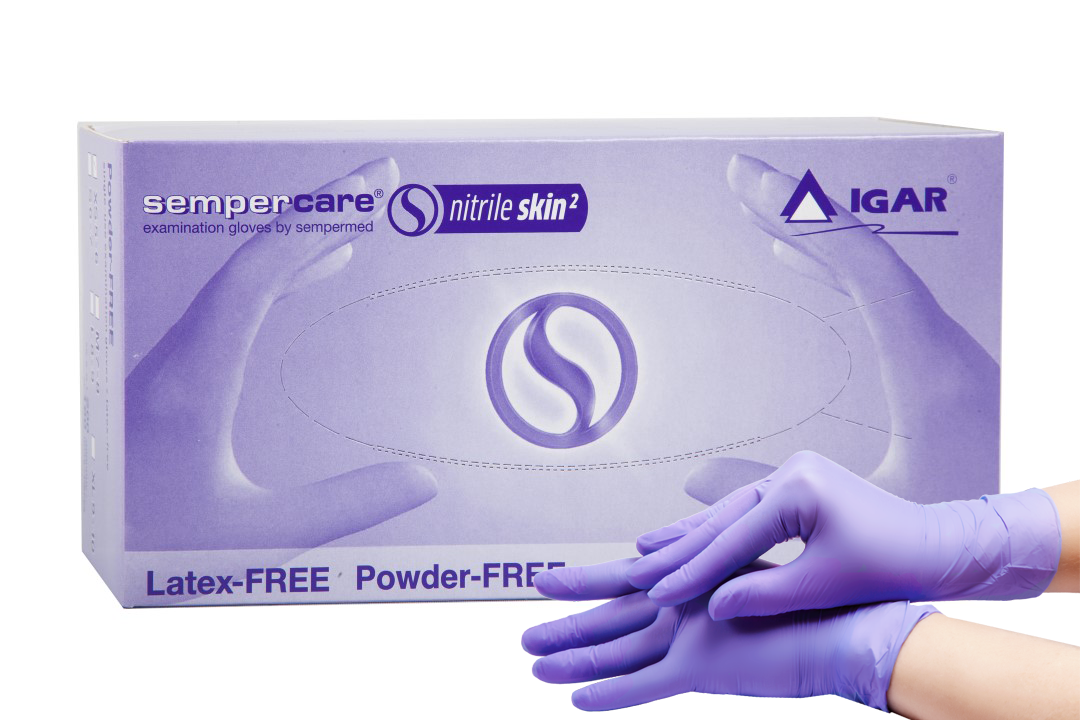 Medical examination nitrile gloves Sempercare Nitrile Skin2 non-sterile, powder-free